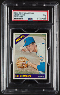 1966 Topps Baseball (7th Series) Cello Pack PSA NM 7 - Scarce High-Number Pack!