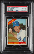 Baseball Cards:Unopened Packs/Display Boxes, 1966 Topps Baseball (7th Series) Cello Pack PSA EX-MT 6 - Scarce High-Number Pack! ...