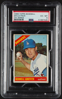 1966 Topps Baseball (7th Series) Cello Pack PSA EX-MT 6 - Scarce High-Number Pack!