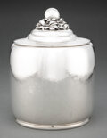 Silver & Vertu, A Large and Rare Georg Jensen No. 440B Silver Covered Jar Designed by Harald Nielsen, Copenhagen, 1933-1944...