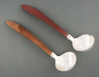 A Pair of William Spratling Silver and Wood Ladles, Taxco, Mexico Marks: (SPRATLING, MADE IN MEXICO cipher), SPRATLIN...