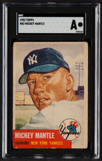 1953 Topps Mickey Mantle #82 SGC Authentic