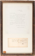 Autographs:Artists, James McNeill Whistler Autograph Letter Signed with a Butt...