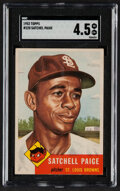 Baseball Cards:Singles (1950-1959), 1953 Topps Satchell Paige #220 SGC VG/EX+ 4.5....