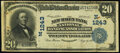 National Bank Notes:Connecticut, New Haven, CT - $20 1902 Plain Back Fr. 658 The New Haven Bank National Banking Assoc Ch. # (N)1243 Very Fine.. ...
