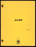 """Movie Posters:Science Fiction, Alien by Walter Hill and David Giler (20th Century Fox, 1978). Very Fine-. Revised Final Script (105 Pages, 8.5"""" X 11"""").. ..."""