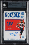 Football Cards:Singles (1970-Now), 2020 Panini Encased Tee Higgins Rookie Notable Signatures (Sapphire) #RNS-TH BGS NM-MT+ 8.5, Auto 10 - Serial Numbered 13/25....