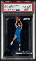 Basketball Cards:Singles (1980-Now), Signed 2018 Panini Prizm Luka Doncic #280 PSA/DNA Certified. ...