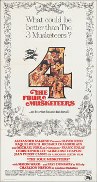 """The Four Musketeers (20th Century Fox, 1975). Folded, Very Fine-. Three Sheet (41"""" X 77""""). Swashbuckler"""