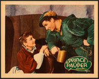 """The Prince and the Pauper (Warner Bros., 1937). Very Fine+. Linen Finish Lobby Card (11"""" X 14""""). Swashbuckler..."""