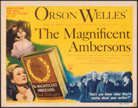 """The Magnificent Ambersons (RKO, 1942). Very Fine-. Title Lobby Card (11"""" X 14""""). Drama"""