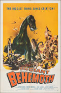 "Movie Posters:Science Fiction, The Giant Behemoth (Allied Artists, 1959). Folded, Very Fine-. One Sheet (27"" X 41"") Joseph Smith Artwork. Science Fiction...."