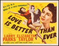 """Love is Better Than Ever (MGM, 1952). Very Fine. Title Lobby Card (11"""" X 14""""). Romance"""