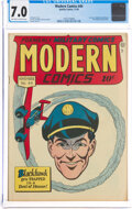 Golden Age (1938-1955):War, Modern Comics #44 (Quality, 1945) CGC FN/VF 7.0 Off-white to white pages....