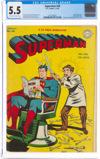 Superman #38 (DC, 1946) CGC FN- 5.5 Off-white to white pages