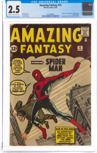 Amazing Fantasy #15 (Marvel, 1962) CGC GD+ 2.5 Cream to off-white pages