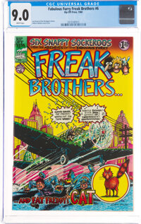 The Fabulous Furry Freak Brothers #6 (Rip Off Press, 1980) CGC VF/NM 9.0 White pages