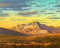 Paintings, William A. Slaughter (American, 1923-2003). El Capitan at Sunrise. Oil on canvas. 24 x 30 inches (61...