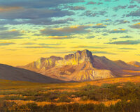 William A. Slaughter (American, 1923-2003) El Capitan at Sunrise Oil on canvas 24 x 30 inches (61