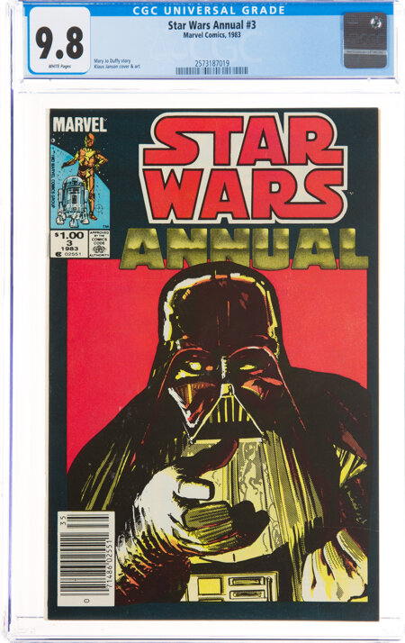 Star Wars Annual #3 (Marvel, 1983) CGC NM/MT 9.8 White pages....