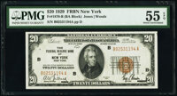 Fr. 1870-B; G $20 1929 Federal Reserve Bank Notes. PMG Graded About Uncirculated 55 EPQ; About Uncirculated 50 EPQ