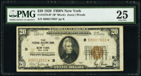 Fr. 1870-B* $20 1929 Federal Reserve Bank Star Note. PMG Very Fine 25
