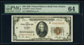 Fr. 1870-F $20 1929 Federal Reserve Bank Note. PMG Choice Uncirculated 64