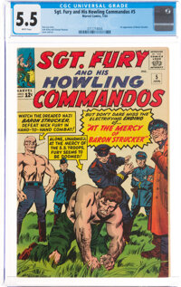 Sgt. Fury and His Howling Commandos #5 (Marvel, 1964) CGC FN- 5.5 White pages