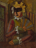Paintings, Bror Utter (American, 1913-1993). Harlequin. Oil on board. 24 x 18 inches (61.0 x 45.7 cm). Signed...