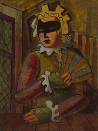 Bror Utter (American, 1913-1993) Harlequin Oil on board 24 x 18 inches (61.0 x 45.7 cm) Signed