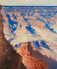 José Arpa (American/Spanish, 1858-1952) Grand Canyon, Arizonia, circa 1925 Oil on canvas 17 x 14-