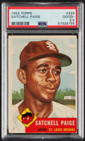 Baseball Cards:Singles (1950-1959), 1953 Topps Satchell Paige #220 PSA Good+ 2.5. One ...