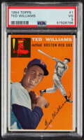Baseball Cards:Singles (1950-1959), 1954 Topps Ted Williams #1 PSA VG 3. We've said it...