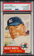 Baseball Cards:Singles (1950-1959), 1953 Topps Mickey Mantle #82 PSA Authentic - Altered....