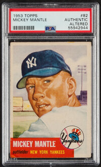 1953 Topps Mickey Mantle #82 PSA Authentic - Altered
