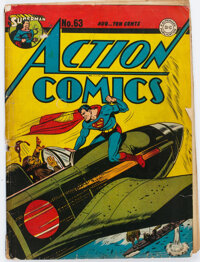 Action Comics #63 (DC, 1943) Condition: GD