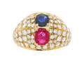 Estate Jewelry:Rings, Ruby, Sapphire, Diamond, Gold Ring Stones: Ov...