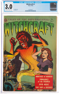 Witchcraft #1 (Avon, 1952) CGC GD/VG 3.0 Off-white to white pages
