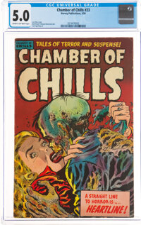 Chamber of Chills #23 (Harvey, 1954) CGC VG/FN 5.0 Cream to off-white pages