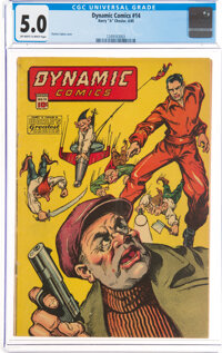Dynamic Comics #14 (Chesler, 1945) CGC VG/FN 5.0 Off-white to white pages