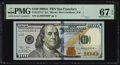 Small Size:Federal Reserve Notes, Fr. 2187-L* $100 2009A Federal Reserve Star Note. PMG Supe...