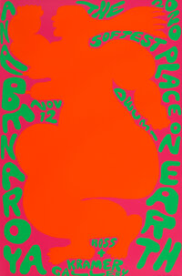 Ana Benaroya (20th Century) The Softest Place on Earth, exhibition poster, 2020 Offset lithograph in colors on wove pa...