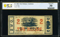 Obsoletes By State:Louisiana, New Orleans, LA- G. W. Holt $2 Jan. 1, 1862 PCGS Very Fine 30.. ...