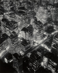 Berenice Abbott (American, 1898-1991) New York at Night, 1932 Gelatin silver, printed later 13-3/4 x 10-3/4 inches (3