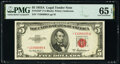 Small Size:Legal Tender Notes, Fr. 1533* $5 1953A Legal Tender Star Note. PMG Gem Uncircu...