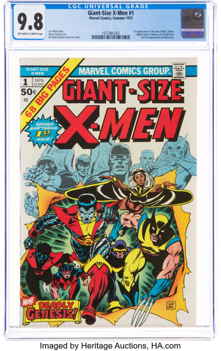 Giant-Size X-Men #1 (Marvel, 1975) CGC NM/MT 9.8 Off-white to white pages....