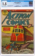 Golden Age (1938-1955):Superhero, Action Comics #13 (DC, 1939) CGC FR/GD 1.5 Cream to off-white pages....