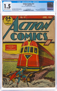 Action Comics #13 (DC, 1939) CGC FR/GD 1.5 Cream to off-white pages