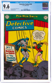 Detective Comics #182 (DC, 1952) CGC NM+ 9.6 Off-white to white pages