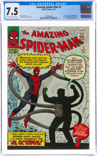 The Amazing Spider-Man #3 (Marvel, 1963) CGC VF- 7.5 Off-white to white pages